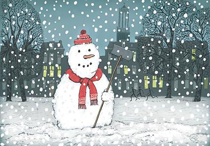 Sneeuwpop op het Lepelenburg