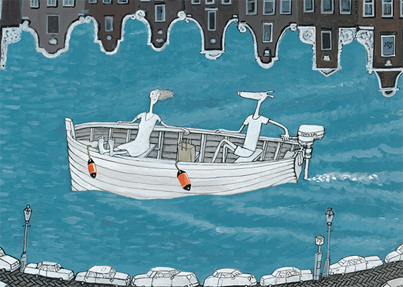 Grachtenbootje