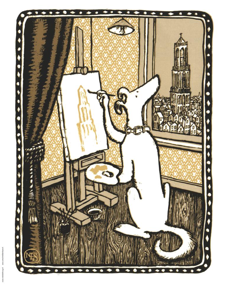 Zorba tekent domtoren- A2 poster